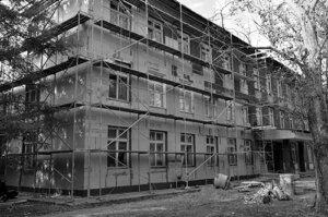 гимназия ремонт фасада